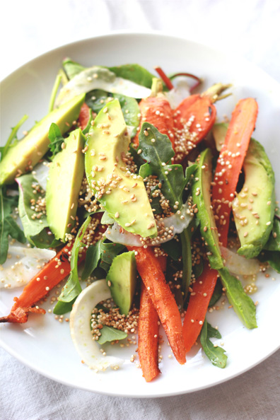 Roasted Carrot, Avocado & Toasted Quinoa Salad | Perpetually Chic