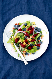 Roasted Beet, Blueberry & Aged Cheddar Salad | Perpetually Chic