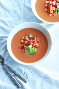 Peach & Tomato Gazpacho | Perpetually Chic