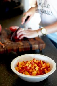 Peach & Tomato Gazpacho   Perpetually Chic