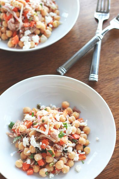 Chickpea & Tuna Salad | Perpetually Chic