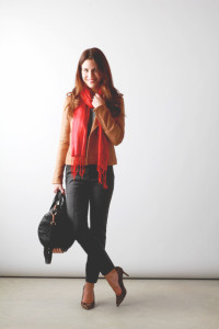 camel, red & leopard // perpetuallychic.com