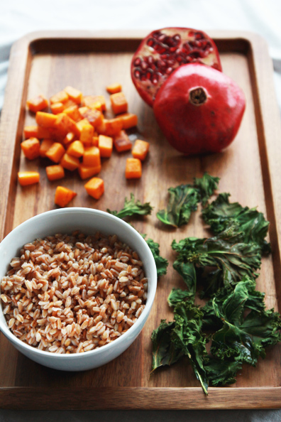 farro, butternut, kale & pomegranate | perpetually chic