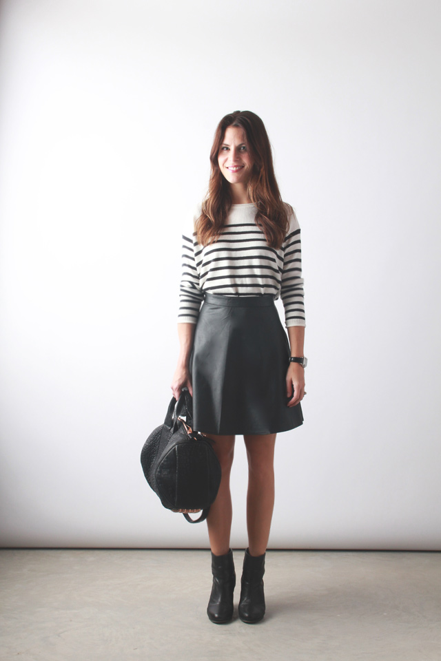 leather skater skirt perpetually chic