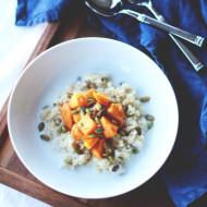 roasted persimmon & coconut quinoa // perpetuallychic.com