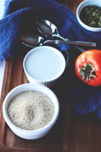Roasted Persimmon & Coconut Quinoa | Perpetually Chic