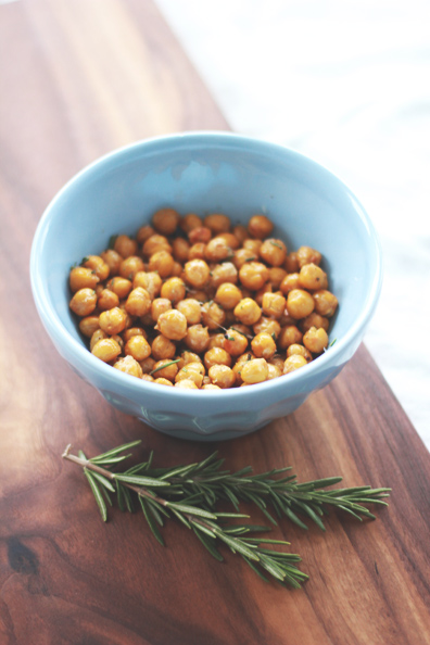Crispy Rosemary Chickpeas | Perpetually Chic