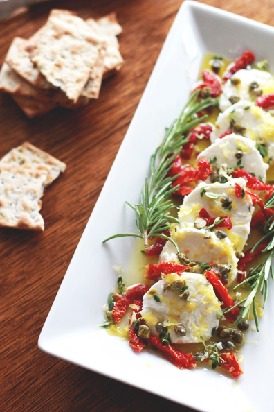 goat cheese marinated with lemon & herbs | Perpetually Chic