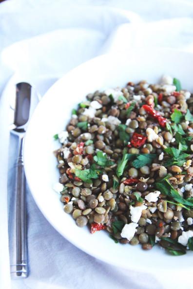 mediterranean lentil salad | perpetually chic