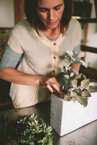 Succulent Planter by Rosehip Flora, photos by  Julie Cope | Perpetually Chic