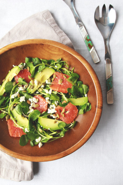 Cara Cara & Avocado Salad with Jalapeño Dressing // Perpetually Chic