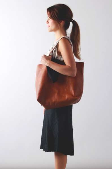 madewell leather carryall // perpetually chic