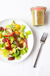Chopped Salad with Sweet & Spicy Pecans and Cumin Dressing | Perpetually Chic