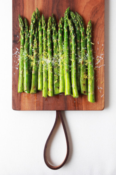 Grilled Asparagus with Chili Oil, Lemon Zest & Parmigiano | Perpetually Chic