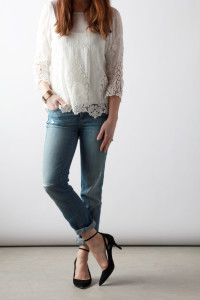 Lace & Boyfriend Jeans | Perpetually Chic