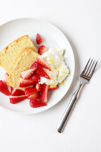 Pound Cake with Strawberries & Mascarpone Cream | Perpetually Chic