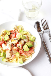 Linguine with Scallops & Avocado | Perpetually Chic