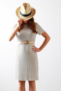 summer stripes + fedora | Perpetually Chic