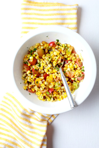 Roasted Corn Salad | Perpetually Chic