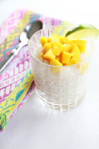 Coconut Tapioca with Mango | Perpetually Chic