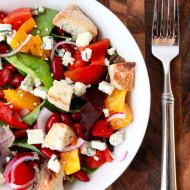 Panzanella Salad with Lemon-Garlic Vinaigrette | Perpetually Chic