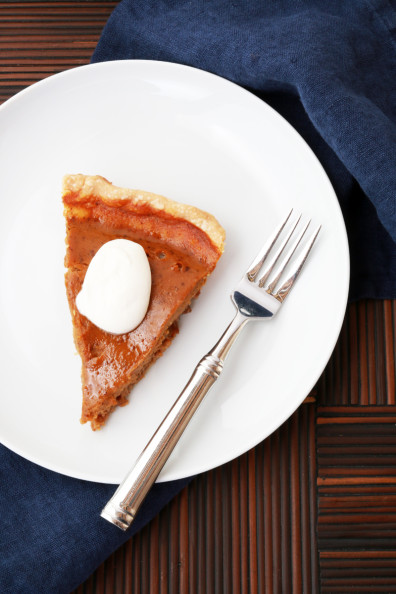 Pumpkin Pie with Pecan Crust | Perpetually Chic