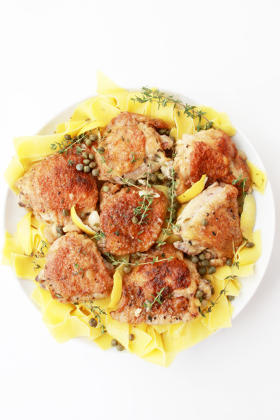 Braised Chicken with Lemon & Capers | Perpetually Chic