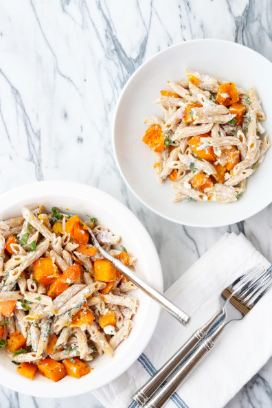 Butternut Squash Pasta with Herbs & Goat Cheese | Perpetually Chic