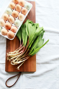 Soft Scrambled Eggs with Ramps | Perpetually Chic
