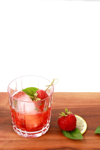 Strawberry-Basil Smash Cocktail | Perpetually Chic