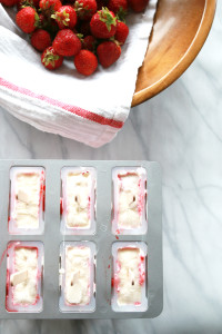Roasted Strawberry & Crème Fraîche Popsicles   Perpetually Chic