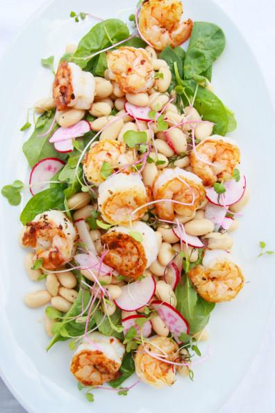Shrimp & White Bean Salad | Perpetually Chic