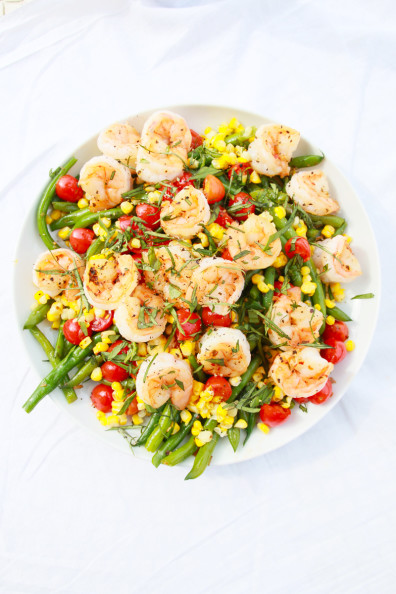 Grilled Shrimp & Green Bean Salad | Perpetually Chic