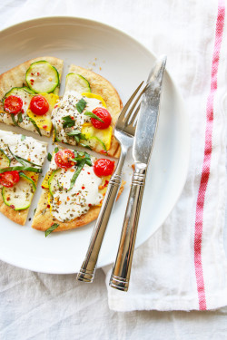 Summer Squash & Burrata Pizza | Perpetually Chic
