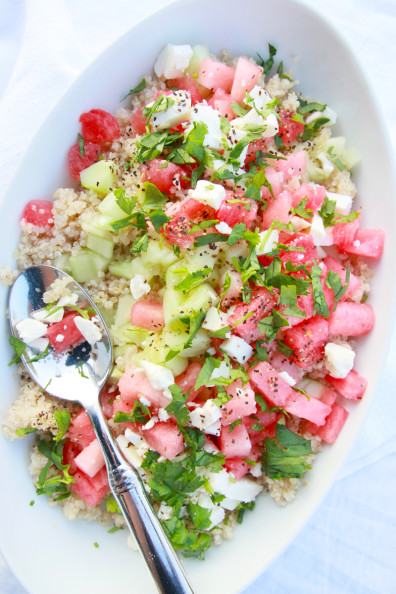 Watermelon Quinoa Salad | Perpetually Chic