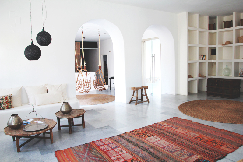 San Giorgio Hotel Mykonos October 9th 2017 Kilim Rug And Hanging Chair Perpetually Chic